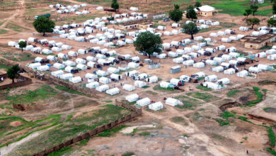 """""""The decade-long armed conflict in north-east Nigeria has left over 2 million people displaced and left 31,621 deaths in Borno state alone, the epicenter of the crisis."""