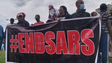 EndSARS protesters in Abuja.