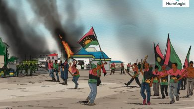 Artist impression of typical IPOB rally