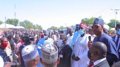 Zulum Visits Jakana, Furious Over Poor Security On Damaturu - Maiduguri Road
