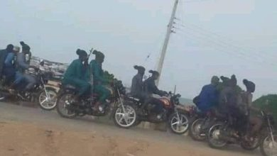 File: Terrorists riding motorcycles