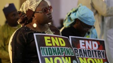 A protest against the kidnapping of schoolchildren in the north-western state of Katsina in Dec. 2020. Photo: Afolabi Sotunde/Reuters