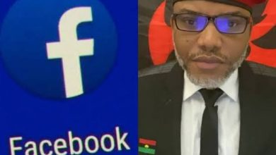 IPOB Accuses Facebook Of Collusion For Deleting Nnamdi Kanu's Account