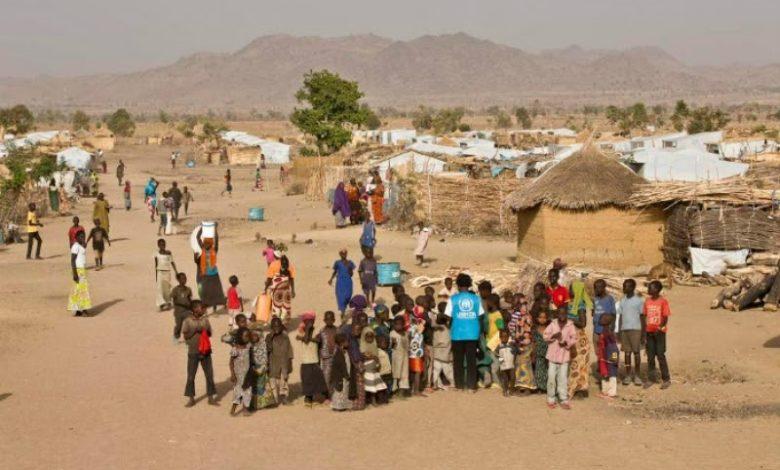 NIGERIAN REFUGEES IN THE MINAWOA CAMP. (UNHCR PHOTO)