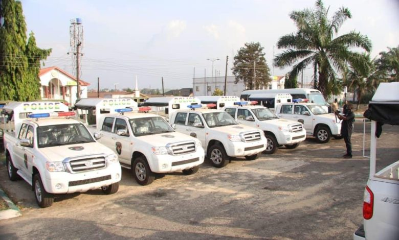 Security vehicles of Abia State Government