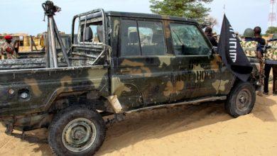 File photo of a seized ISWAP Gun truck via Audu Marte/AFP