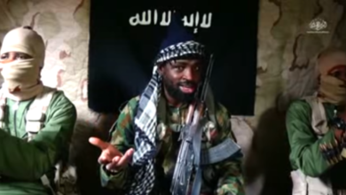 Screengrab from a video released by Boko Haram.