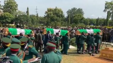 Funeral service for military officers who died in a crash on Friday, May 21, 2021.