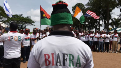 IPOB supporters. Photo credit AFP